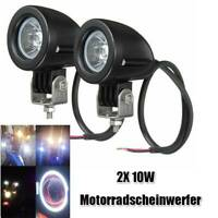 2stück 10W LED Motorrad Scheinwerfer Zusatzscheinwerfer Tagfahrlicht Front Licht