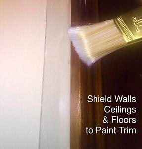 60 Paint Shield Plastic Strips Mask Protect Carpet Floor Trim Wall Reusable 180'