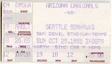 SEATTLE SEAHAWKS at ARIZONA CARDINALS NFL FOOTBALL TICKET Oct 29, 1995 B. Ryan