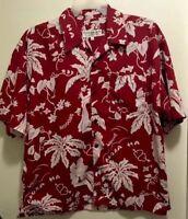 New Hawaiian Vintage Collection Floral Wahine Smoogie Sailor Love Aloha Shirt XL