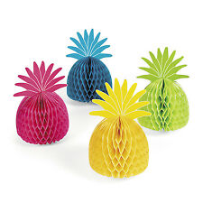 4  BEAUTIFUL TISSUE PINEAPPLES Tropical Beach Decorations Hawaiian Luau Party