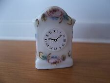 Dolls House Miniatures 1/12th Scale Floral Mantle Clock  Accessory New D2273