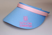 Blue/Pink Trim St Andrews Links Golf Sun Visor/Peak Clip-on Style Open Back New