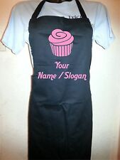 Custom Printed Cupcake Black Apron - Personalised Free