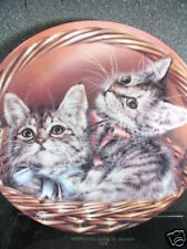 Bradford 1993 Andrew & Abby Cat Kittens Baskets of Love Ltd Ed Plate