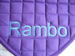 Personalised Saddle Cloth Embroidered on both sides