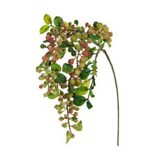 Hanging Artificial Sloe or Berry Spray Green 55cm