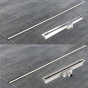 Duschrinne Bodenablauf Ablaufrinne Edelstahl Duschablauf Ablauf  60cm - 110cm