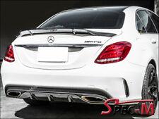 2015-2018 W205 C63 AMG Sedan RT Style Carbon Fiber Trunk Spoiler Wing