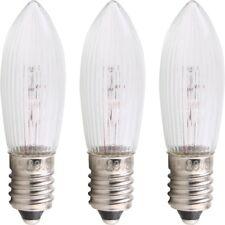 3 X E10 Ersatzbirne Glühbirnen Lichterbogen 34V 3W Riffelkerze lichterkette