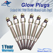 Glow Plugs Patrol GQ Y60 TD42 Diesel 4.2L 6cyl fit Ford Maverick DA 12V 88-99