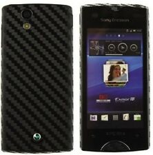 Skinomi Carbon Fiber Black Skin+Screen Protector for Sony Ericsson Xperia Ray