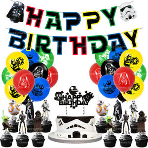 Star Wars Party Set Party Supplies Banner Cake Toppers Balloons Decoration