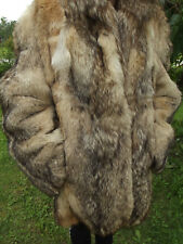 REAL COYOTE FUR JACKET COAT taxidermy