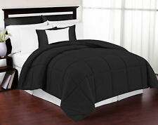 New Luxury Hypoallergenic Twin Size Black Down Alternative Comforter Blanket