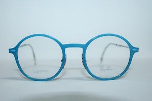 BRAND NEW RAY BAN RB 7087 5638 LIGHTRAY BLUE AUTHENTIC EYEGLASSES RX 48-21-140