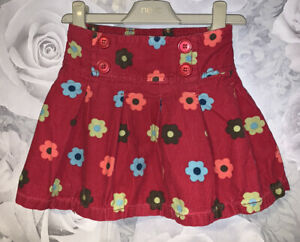 Girls Age 2-3 Years - Next Floral Fine Cord Skirt