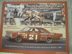 Marvin Panch Autographed #21 Harvest Ford Hero Card