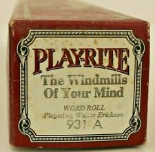 More details for play-rite pianola word: the windmills of your mind