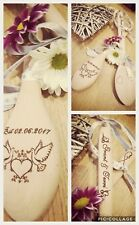 Good Luck Wedding Token Lucky wooden spoon Keepsake personalized. Any name etc❤