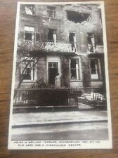 Scarborough Postcard RPPC Real Photo Belvoir Terrace 1914 WWl Bombardment Bombed