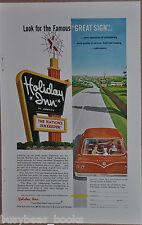 1962 HOLIDAY INN advertisement, Holiday Inn Hotel Roadside sign