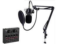 Kit microfono a condensatore con mixer audio unidirezionale studio registrazione