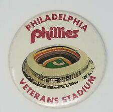 "1970'S PHILADELPHIA PHILLIES VETERANS STADIUM BUTTON/ PIN  ""RARE"""