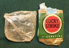 Lucky Strike Rare Ww2 Original Cigarette Pack Original Wrapping Sc Tax Stamp
