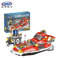 Xingbao Microblock Toys Baukästen Rot Feuer Boot Boat Modell Spielzeug 666PCS