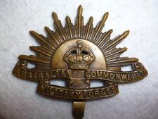 Australian DIGGER'S RISING SUN Cap Badge, ANZAC's, WW1