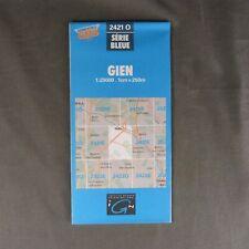 Carte IGN 2421 O - Série Bleue - Gien ( Loiret )