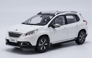 1/18 Dongfeng Peugeot manufacturer,2008 PEUGEOT SUV car model Gift collection