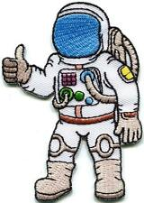 Astronaut cosmonaut spaceman retro embroidered applique iron-on patch S-1316