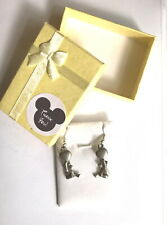 VTG WINNIE THE POOH w/BALLON DANGLE EARRINGS by DANFORTH PEWTER *HTF