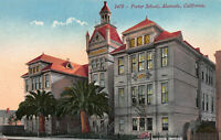 Porter School, Alameda, California, Early Postcard, Unused