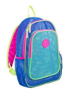 Eastsport Mesh Backpack, Blue, Turquoise & Pink