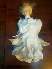 """Vintage Isotia (Isotta?) Handmade Christmas Angel Doll w Feathers Italy 11.5"""""""