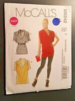 McCall's Pattern M6242 Easy Knit Pull-over Tunic Top Sz X Small Medium Uncut