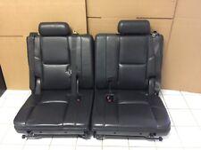Denali Escalade LTZ 3rd Third Row Seat 2007 - 2014 Black Ebony Perforated Lthr