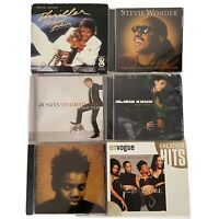 Lot 6 R&B Soul Pop Rock Music Audio CDs Jackson Wonder Timberlake Keys Chapman