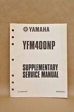 2002 Yamaha YFM400 NP Big Bear Shop Repair Supplementary Service Manual