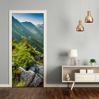 Home Mural Door Self Adhesive Removable Sticker Nature Mountains in the summer