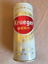 Clean! Air Filled Krueger 16oz King Size Half Quart Lift Tab Beer Can