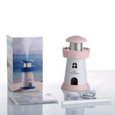 Lighthouse Humidifier Atmosphere Nightl Lght Desktop USB Mini Air Purifier B