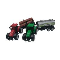 2x Spielzeugtraktor mit Anhänger je 21 cm Schlepper Bulldog Traktor Bauernhof