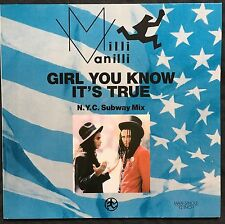 "Milli Vanilli 12"" Girl You Know It's True (N.Y.C. Subway Mix) - Germany (EX+/M)"