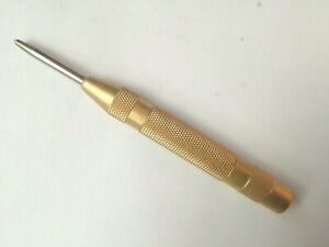 """AUTOMATIC CENTRE PUNCH SPRING LOADED FOR METAL WOOD, DENT MARKER 5""""/125mm"""