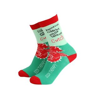 Womens Welsh Cwtch Novelty BAMBOO Gift Socks | Sock Therapy