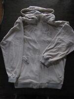 Mens Rockaware Hoodie - Large, Gray, Zipper Front